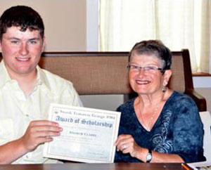 Andrew Clarke, 2012 scholarship winner
