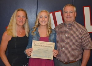 2014 Recipient Molly Slothower and her parents Jeffrey and Susan