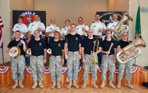 Members of the 133rd Army Band