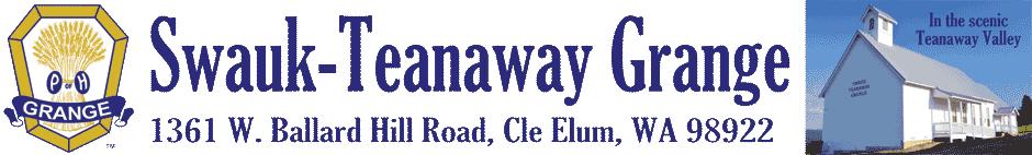 Swauk-Teanaway Grange, 1361 W. Ballard Hill Road, Cle Elum, WA 98922