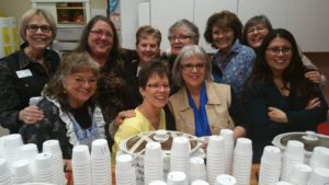Chili volunteers left to right: Back row: Gerry Lloyd, Barbara Wilcox, Carel Edgerly, Sandi Peck, Carole Engstrom, and Claire Lucke Front row: Sherry Osmonovich, Shari Girard, Lauralee Northcutt and Juliet Bernritter