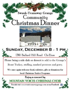 Grange Community Christmas Dinner @ Swauk-Teanaway Grange | Cle Elum | Washington | United States