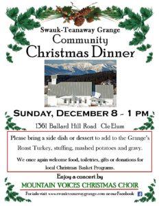 Grange Community Christmas Dinner @ Swauk-Teanaway Grange | Cle Elum | Washington | United States
